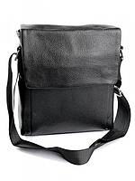 Мужская кожаная сумка 9168 Black. Мужские сумки оптом и в розницу недорого в Украине., фото 1