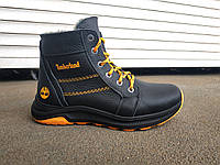 Детские кожаные зимние ботинки на змейке+шнурок 35-41 р, фото 1