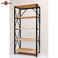 Металлический стеллаж полочный LOFT-540 1520х750х400 мм, стеллаж для книг, стеллаж в магазин, стеллаж для дома