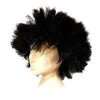 ПАРИК пушистый чёрный из искусственных волос