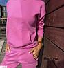 Женский спортивный костюм.Размер: 42-44, 46-48 Ткань: трехнить турция. Цвета: малиновый., фото 4
