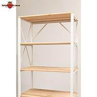 Металлический стеллаж для дома, офиса, магазина LOFT-640, полочный стеллаж, стеллаж для книг, торговый стеллаж