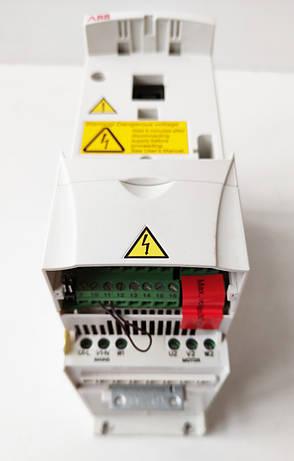 Преобразователь частоты ABB ACS310 0.37кВт 380В (ACS310-03E-01A3-4). Требует ремонта, сгорел силивой модуль, фото 2