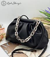 Женский сумка облачко 095ц черный женские клатчи, женские сумки купить оптом в Украине, фото 1