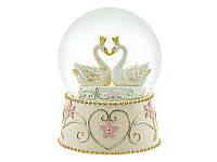 Снежный шар новогодний Лебеди 192-114