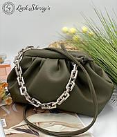 Женский сумка облачко 095ц зеленый женские клатчи, женские сумки купить оптом в Украине, фото 1