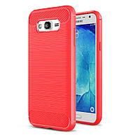 Чехол Carbon для Samsung J7 Neo / J701 бампер Red