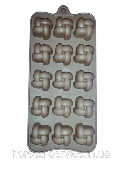 """Силиконовая форма""""Шоколад/Лед Узелки""""210*105*20 мм (шт)"""
