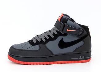 Мужские кроссовки Nike Air Force (серые) 12283