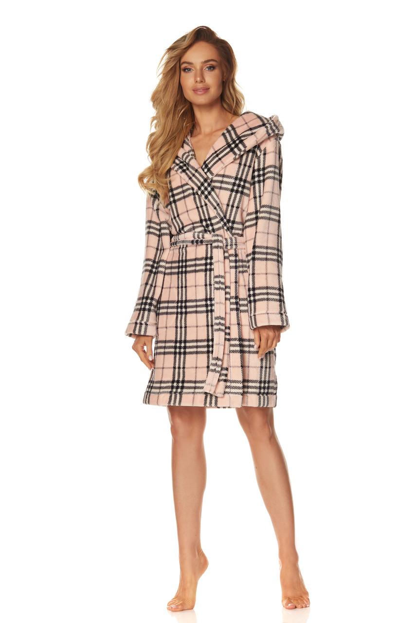 Жіночий халат короткий L&L 2074_MISTI_CROSS
