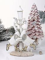 Фигурка декоративная, новогодняя Гуси 192-135