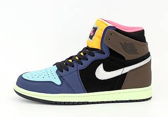 Мужские кроссовки Nike Air Jordan 1 Retro (разноцветные) 12289
