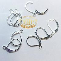 Английская застежка (цвет silver)   Цена за пару