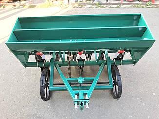 Сеялка зерновая СЗ 6-115УД дисковая на шесть рядов с бункером для удобрений на мотоблок и мототрактор
