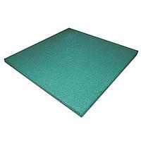 Резиновая плитка PuzzleGym 500х500х10 мм Зелёный