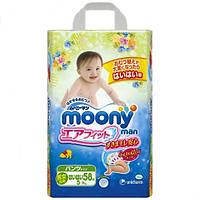 Moony подгузники – трусики Air Fit M  (5-9) кг, 58 шт. для детей начинающих ползать