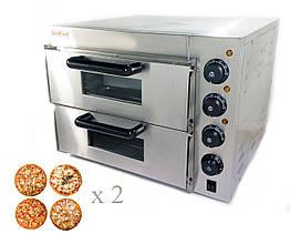 Печь для пиццы 4+4х20 электрическая GoodFood PO2