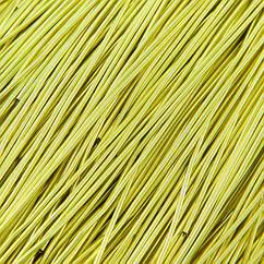 Канитель Гладкая, Цвет: Лимонный, Диаметр 1мм, Отрезки не Менее 8см, около 580см/10г, 10 г
