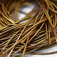 Канитель Гладкая 1мм, Цвет: Античное Золото, Отрезки не Менее 15см, около 580см/10г, 10 г