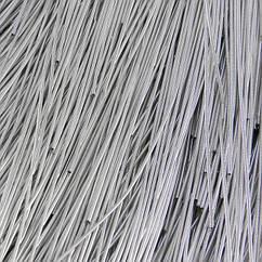 Канитель Гладкая, Цвет: Серебро, Отрезки не Менее 25см, Диаметр 0.5мм, около 1130см/10г, 10 г