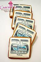 Корпоративный подарочный медовый имбирный пряник с логотипом компании, фото 1