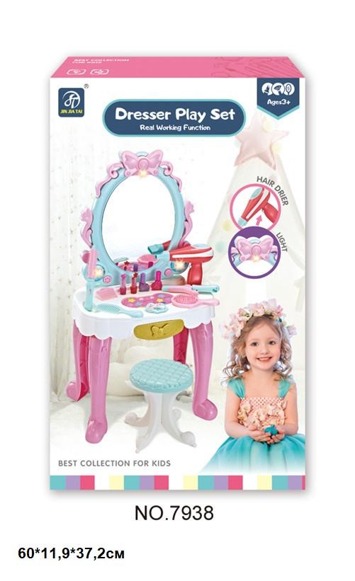 Детское туалетный столик с зеркалом со стулом