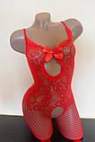 Сексуальна боді сітка сексуальная боди-сетка в упаковке бодистокинг комбинезон, фото 6