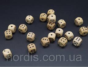 Кости игральные деревянные.16 мм.