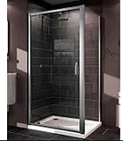 Нужно дешевле? Звоните. Huppe X1 дверь распашная для ниши и боковой стенки  90*190см (проф гл хром, стекло, фото 3