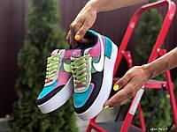 Женские кроссовки Nike Air Force (реплика), разноцветные (9667)