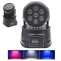 Динамический световой прибор голова Светодиодная Showlight 710 LED 7x10W DMX световой проектор для сцены, фото 1