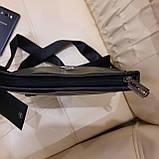 Сумка мужская Philipp Plein планшетка черная из натуральной кожи, фото 3