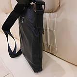 Сумка мужская Philipp Plein планшетка черная из натуральной кожи, фото 4