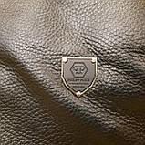 Сумка мужская Philipp Plein планшетка черная из натуральной кожи, фото 7