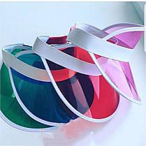 Цветной пластиковый козырек от солнца, фото 3
