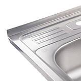 Нужно дешевле? Звоните. Кухонная мойка Lidz 5060 Decor 0,6 мм (LIDZ506006DEC), фото 5