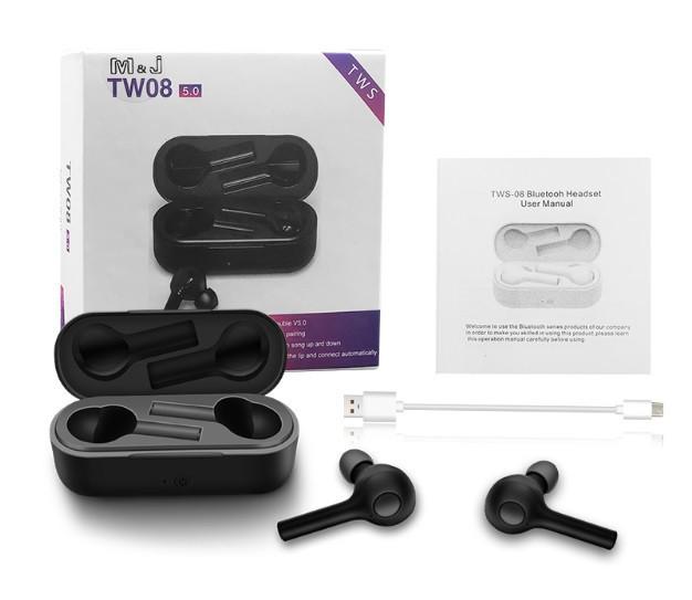 Наушники беспроводные TW08 Bluetooth 5.0
