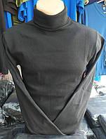 Мужские водолазки с начесом, Турция. 95% х/б. Байка. Черная. Размер XL (46-48).