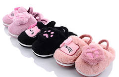 Детские меховые тапочки комнатные для дома девочки домашние 24-29р котики 4322