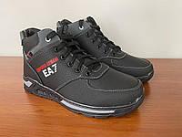 Женские зимние ботинки черные (код 4750)