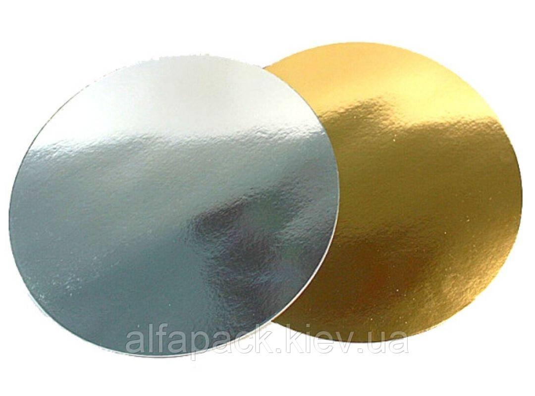 Подложка для торта круглая фольгированная 200 мм, 100 шт.