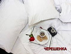 Полуторный набор постельного белья 150*220 из Страйп Сатина №54321 KRISPOL™