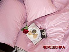 Полуторный набор постельного белья 150*220 из Страйп Сатина №50222 Черешенка™