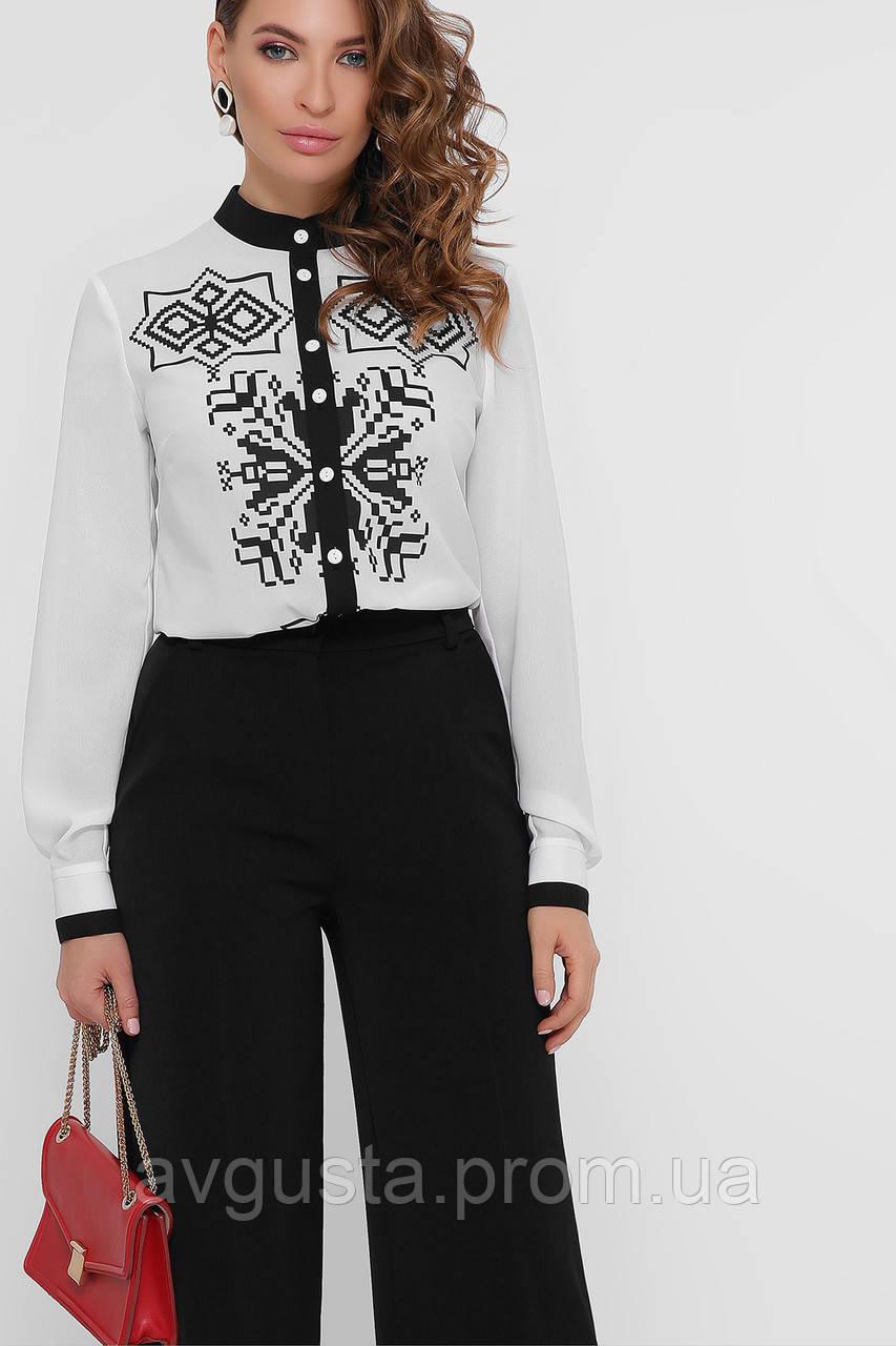 GLEM Чорний візерунок блуза Персія д/р
