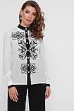 GLEM Чорний візерунок блуза Персія д/р, фото 3