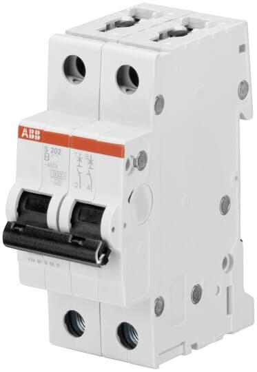 Автоматический выключатель 6А, 2 полюса, тип B, ABB SH202-B6