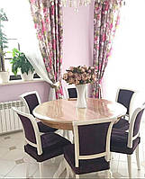 Мягкое стекло 2.5 мм 70 см круг силиконовая прозрачная скатерть на круглый стол, ПВХ, фото 1