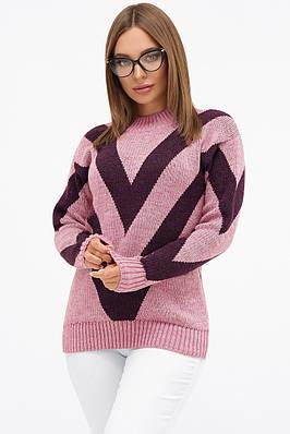 Теплий бузковий светр