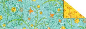 """Картон дизайнерский двусторонний  """"Парадис"""" 300г 20х30см ГОЛУБОЙ мотив МЕЛКИЕ ЦВЕТЫ"""