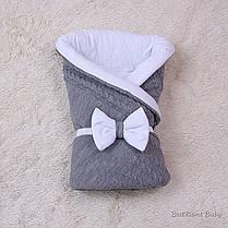 Демисезонный комплект на выписку для новорожденного вязаный набор Глория, фото 3
